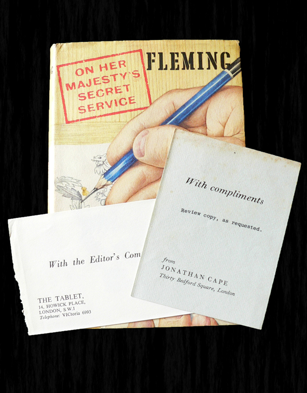 On Her Majesty's Secret Service - Rare Review Copy with publisher's slip. Ian FLEMING.