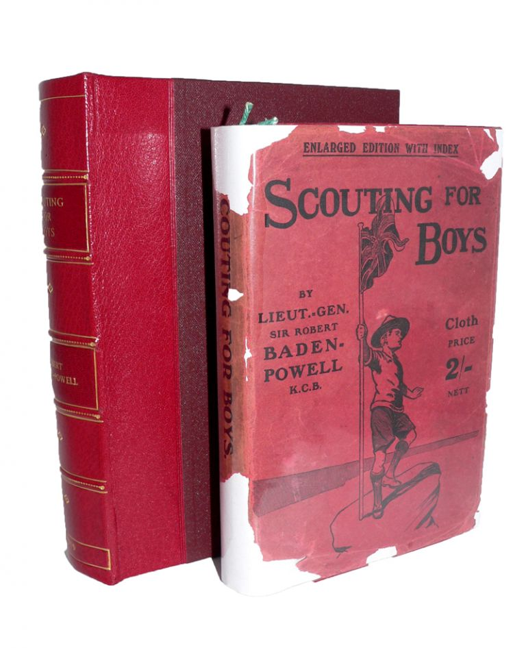 Scouting for Boys [Signed letter & rare dustwrapper]. Sir Robert BADEN-POWELL.