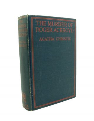 The Murder of Roger Ackroyd. Agatha CHRISTIE.