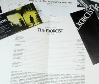 The Exorcist 1971 Press Pack including Press Pass for Warner West End, Leicester Square.