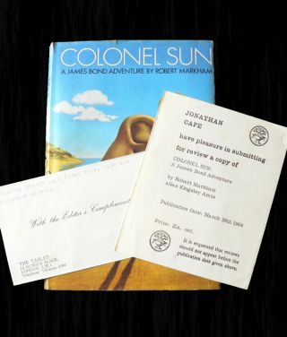 Colonel Sun - Rare Review Copy with publisher's slip. Kingsley AMIS