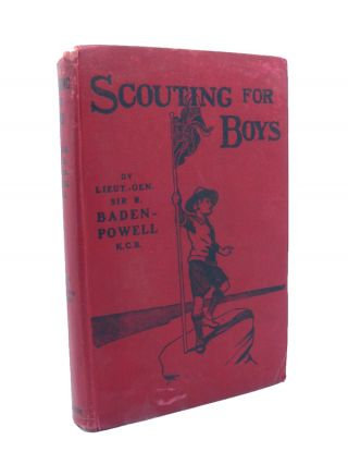 Scouting for Boys [with rare original early dustwrapper & Signed letter from Baden-Powell].