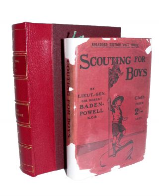 Scouting for Boys [Signed letter & rare dustwrapper]. Sir Robert BADEN-POWELL