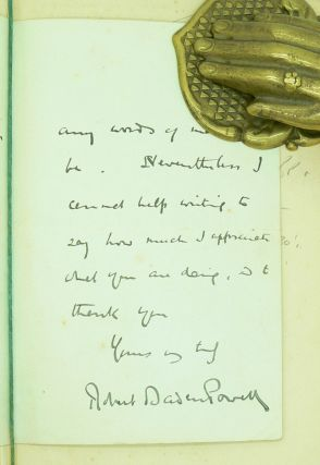 Scouting for Boys [Signed letter & rare dustwrapper].